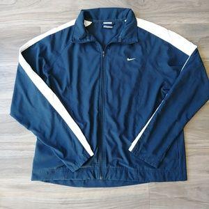 Nike, navy blue light weight jacket, women's large